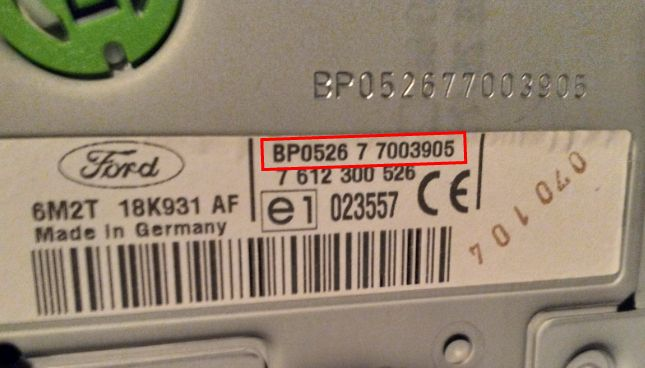 blaupunkt radio serial number